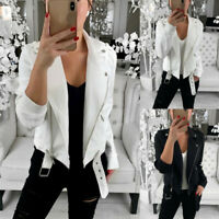 Women Long Sleeve Blazer Open Front Short Tops Cardigan Jacket Coat Outwear 2019