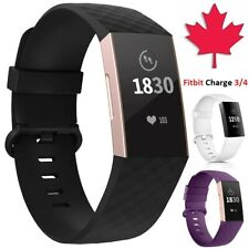 For Fitbit Charge 3 4 SE - Replacement Silicone Wristband Band Strap Small Large