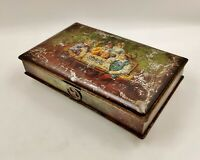 Vintage/Antique Confectionery Tin-John Horn-Chess Players-With Clasp intact
