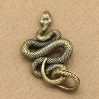 Solid Brass Snake Keychains Necklace Pendant Pants Bag Pendant Car Key Chain DIY