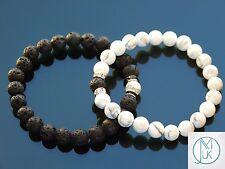 Couple Feng Shui Natural Gemstone Bracelets Elasticated 7-8'' Healing Stone