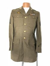WWII US MILITARY ARMY ENLISTED MAN'S OD WOOL DRESS JACKET COAT 37XL INFANTRY VGC