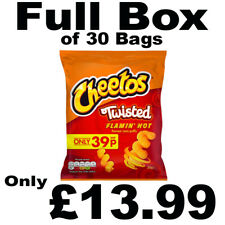 Full Box of 30 Cheetos Flamin' Hot Flavour Corn Snacks 30g Bags Only £13.99