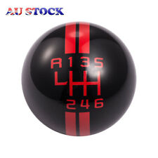 Ford Mustang Car Speed Black & Red Manual 6 Speed Gear Shift Shifter Lever Knob