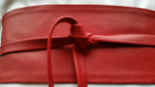 "VIKTOR SABO Handmade OBI Leather RED For Waistline Up To 36""/91.4 cm  XL+"