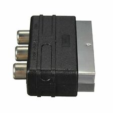 SCART Enchufe Macho a 3 RCA Hembra AV Audio Video Convertidor Adaptador Para Tv Dvd