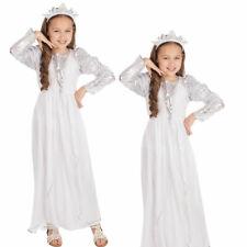 Niña Blanco Princesa Novia Disfraz Niños Disfraz de Carnaval