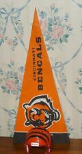 "CINCINNATI BENGALS MICRO MINI PENNANT 9"" and HELMET 2"" NFL FOOTBALL OH Riddell"