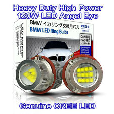 Heavy Duty 120W CREE LED BMW E60 E61 E53 E87 E39 E83 Angel Eyes DRL 7000K white