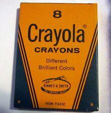 Vintage Crayola Crayons Box Different Brilliant Colors Binney & Smith No 8