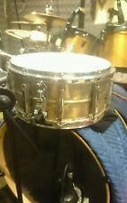 "PEARL BRASS SNARE 14x6.5"" W/ MARCHING HOOP AND PURESOUND COPPER WIRES."