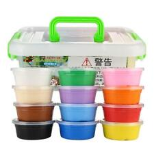 12 Colors Plasticine Fluffy Slime Modeling Clay Play Doh Super Colorful