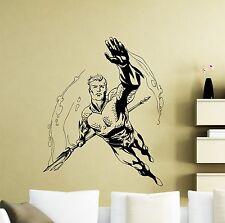 Aquaman Wall Decal Superheroes Comic Vinyl Sticker Bathroom Decor Mural 329su