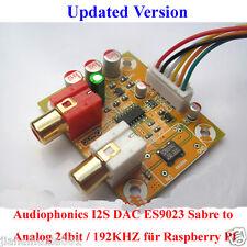 Audiophonics i2s DAC es9023 sabre to Analog 24bit/192khz pour raspberry pi