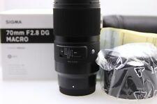 New Sigma 70mm f/2.8 DG ART Macro Lens for For Sony E