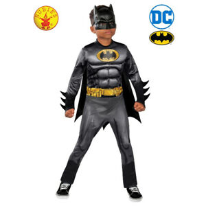 Batman Licensed DC Deluxe Dress Up Costume 2 x Sizes By Rubie's **NEW**