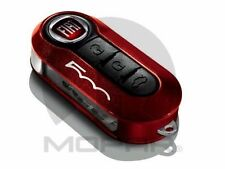 OEM NEW FIAT 500 500L RED METALLLIC AND BLACK KEY FOB DECORATIVE CLIP ON COVER
