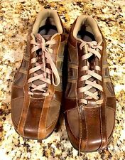 SKECHERS MENS SIZE 13 CITYWALK SNEAKER CASUAL OXFORD SHOES #61751 BROWN