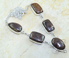multicolor Jaspe Piedra Preciosa 100% PURE plata de ley 925 Collar 50.8cm x8120