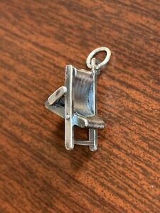 retired James Avery Sterling Silver Beach Chair Charm
