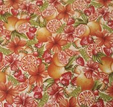 Paradise Delights BTY Charlene Audrey Quilting Treasures Tropical Fruit Hibiscus