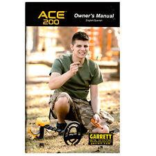 Garrett Ace 200 Metal Detector Owner's Manual