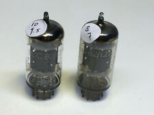 pair ECC82 Telefunken 12AU7, 17mm smooth plates,  lot 02