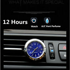 Car A/C Vent Clip 12 Hour Clock Gauge Trim Perfume Refill Storage For Vehicles