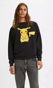 LEVI'S® X POKEMON UNISEX CREWNECK Pikachu SWEATSHIRT POKEMON 25th Anniversary M
