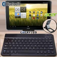 "For Acer Iconia 10.1"" Tablet Slim Wireless Bluetooth Keyboard + Stand Holder"