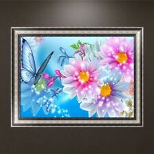 DIY 5D Diamond Embroidery Butterfly Flower Painting Cross Stitch Home Decor Gift