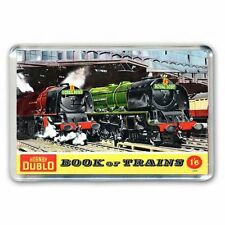 RETRO- HORNBY 1959 BOOK OF TRAINS  ARTWORK -JUMBO FRIDGE / LOCKER MAGNET