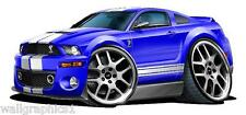 2005-9 Ford Mustang Shelby GT 500 Wall Srickers Graphics Clings Posters Bar Art