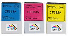 3 C/M/Y Toner Cartridges for HP Colour LaserJet Pro MFP M476dn, M476dw, M476nw
