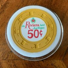 Riviera Las Vegas Nevada Nv Lv .50 Cent Casino Chip Rated N+