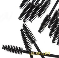 50 Disposable Eyelash Extension Brushes Black Mascara Wands Applicator