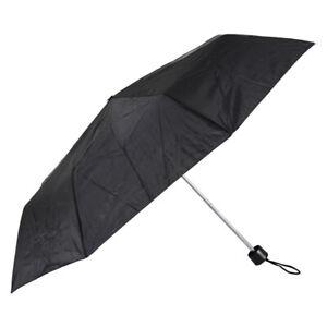 Black Umbrella Windproof Compact Travel Compact Folding Mens Womens Unisex