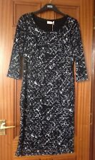MARKS AND SPENCER PER UNA BLACK LACE DRESS SIZE 14 BRAND NEW