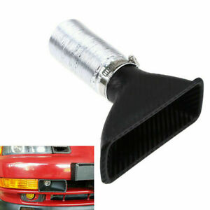 1x Car Bumper Cold Air Intake Pipe Filter Injection System Funnel Kits Universal