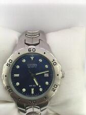 Citizen Mens Vintage Quartz Calendar 100 MT Bracelet Watch 2510-S92308