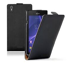 ULTRA Slim Leather Mobile Phone Sony Xperia T3 experia - Case Cover Pouch Saver