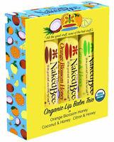 The Naked Bee Organic Lip Balm Trio Gift Set - Orange Blossom-Coconut-Citron