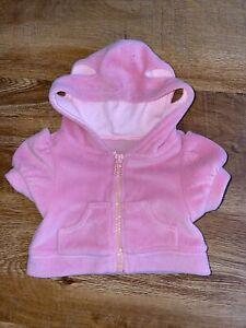 Bear Factory Teddy Pink Velour Hooded Jacket
