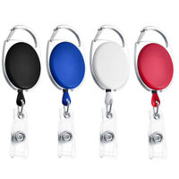 Retractable Reel Pull Badge ID Name Card Holder Nurse Key Chain Belt Clip