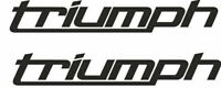 2 TRIUMPH Decals Stickers Motorbike Motorcycle Tank Fairing Helmet Wheels