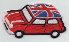 Red Mini Cooper Union Jack Roof Iron On/ Sew On Embroidered Patch Badge