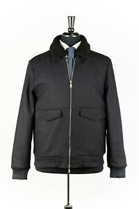 RRP $4130 Brioni Wool Men Jacket  with Removable Lamb Fur Collar-Size 52 (US42)