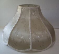 LARGE BRONZE BEIGE VICTORIAN STYLE LAMP SHADE FLOOR / TABLE DAMASK PRINT NEW
