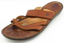 Born Size 10 M Brown Flip Flop Leather Men Shoes