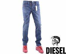 DIESEL SHIONER 0824Y W32 L30 Mens Denim Jeans Distressed Regular Slim Straight